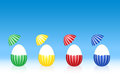 Easter Eggs Striped Pattern Peeled