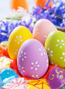 Easter eggs on the table Stock Image