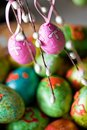 Easter eggs on the tree Royalty Free Stock Photo