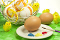 Easter eggs typical colorful decorated Royalty Free Stock Photos
