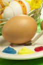 Easter eggs typical colorful decorated Stock Photography