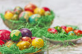 Easter eggs in various colors Royalty Free Stock Photos