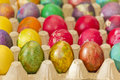 Easter eggs in various colors Royalty Free Stock Images