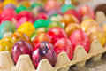 Easter eggs in various colors Royalty Free Stock Photo