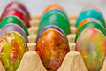 Easter eggs in various colors Stock Photos