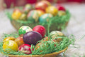 Easter eggs in various colors Royalty Free Stock Image