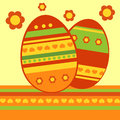 Easter eggs vector background with Stock Image
