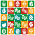 Easter eggs. Vector icons set.
