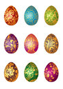 Easter eggs vector illustration of decorated Royalty Free Stock Photos