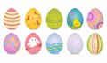 Easter eggs vector illustration of on a white background Stock Images