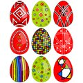 Easter eggs vector set Stock Photos