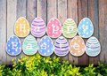 Easter eggs watercolor on background