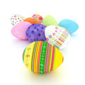 Easter eggs on a white background colored Royalty Free Stock Photo