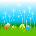 Easter floral vector illustration Stock Images