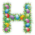 Easter font letter H Royalty Free Stock Photo