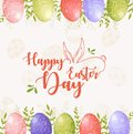 Easter frame background with Happy easter text