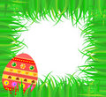 Easter frame with colorful egg Stock Photography