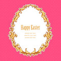 Easter frame vintage template card for your design Royalty Free Stock Image