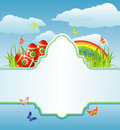 Easter frame for your text / cmyk / vector