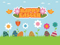 Easter garden Royalty Free Stock Image