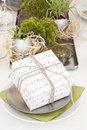 Easter gift box with table decoration Stock Images