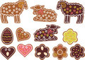Easter gingerbread cookies Royalty Free Stock Image