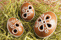 Easter gingerbread eggs Royalty Free Stock Images