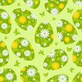Easter green seamless pattern. Royalty Free Stock Photography