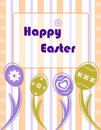 Easter greeting card Stock Images