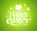Easter greeting card with bokeh lights eps Stock Image