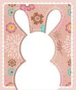 Easter greeting card with bunny Royalty Free Stock Images