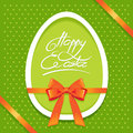 Easter greeting card with egg symbol Stock Photography