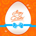 Easter greeting card with egg symbol Stock Photos