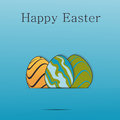 Easter greeting template Royalty Free Stock Photo