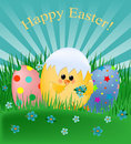 Easter greetings card Stock Photography