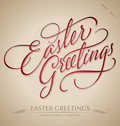 'easter greetings' hand lettering (vector) Stock Photography