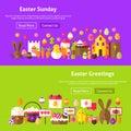 Easter Greetings Website Banners