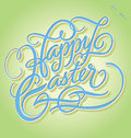 Easter hand lettering handmade calligraphy Stock Photography