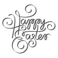 Easter hand lettering happy handmade calligraphy Royalty Free Stock Images