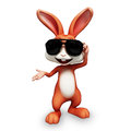 Easter happy bunny with sunglass smart brown Stock Image