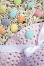 Easter Hat and Gummy Eggs Royalty Free Stock Photo