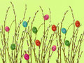 Easter hedgerow Stock Photography