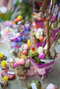 Easter home decoration for or office bundle of colors Stock Images