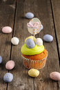 Easter homemade cupcake Royalty Free Stock Image