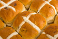 Easter: hot cross buns. Royalty Free Stock Images
