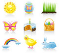 Easter icon set Royalty Free Stock Images