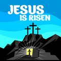 Easter illustration. Jesus Christ is risen Royalty Free Stock Photo