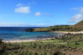 Easter island beach anakena the at Stock Image