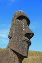 Easter Island Moai Sculpture Royalty Free Stock Photo