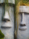 Easter Island Planters Stock Photos
